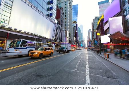 Times Square New York Geel taxi daglicht taxi Stockfoto © lunamarina