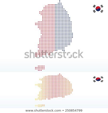 карта республика Южная Корея точка шаблон вектора Сток-фото © Istanbul2009