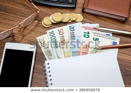 мобильного телефона евро деньги стороны телефон сеть Сток-фото © fantazista