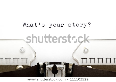 Share Your Story Typewriter  Stock photo © ivelin