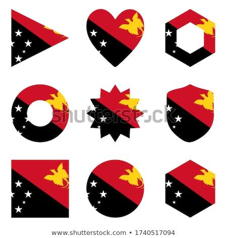 кнопки символ Папуа-Новая Гвинея флаг карта белый Сток-фото © mayboro1964