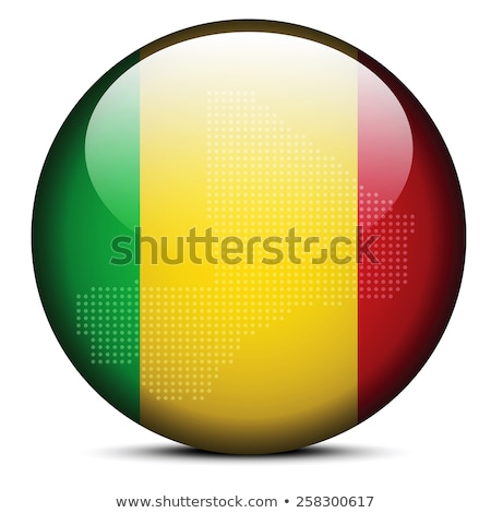 Map with Dot Pattern on flag button of  Mali Stock photo © Istanbul2009
