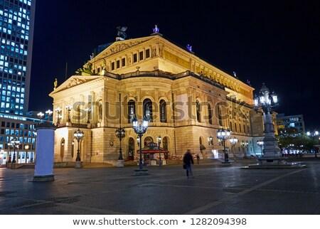 Francoforte sul Meno notte view noto cielo città Foto d'archivio © meinzahn