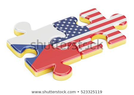 USA and Czech Republic Flags in puzzle  Stock photo © Istanbul2009
