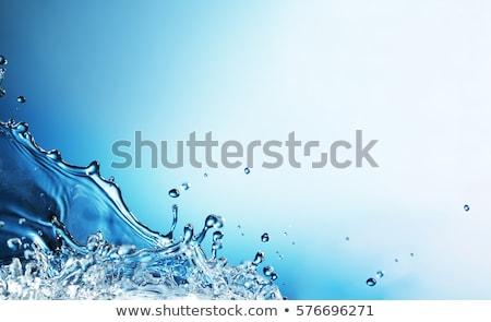 água doce vidro completo limão ice cube branco Foto stock © limpido