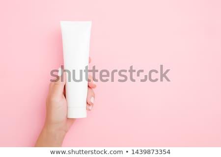 Menina tubo ferramenta cinto olhando Foto stock © cherezoff