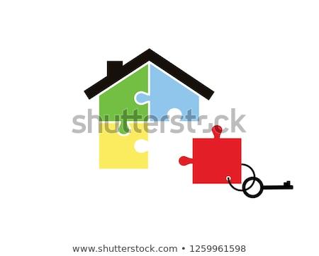Kredit puzzle hely hiányzó darabok szöveg Stock fotó © tashatuvango