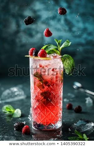 rijp · aardbei · bessen · ijs · donkere · voedsel - stockfoto © oleksandro