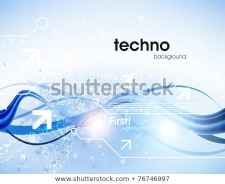 活気のある · ベクトル · 波 · デザイン · ビジネス - ストックフォト © saicle