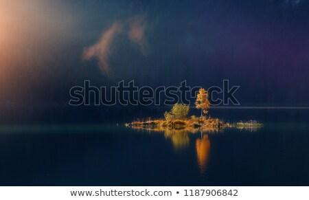 небольшой · острове · деревья · озеро · Швеция - Сток-фото © olandsfokus