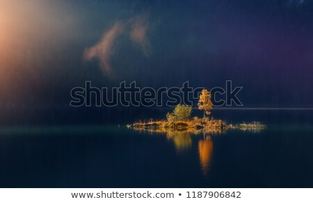 Stock photo: Sunlit small island