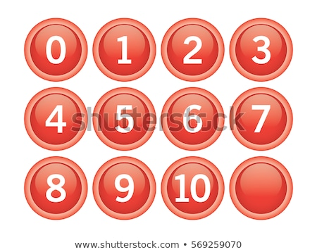 numbers counting red vector button icon design set stock photo © rizwanali3d