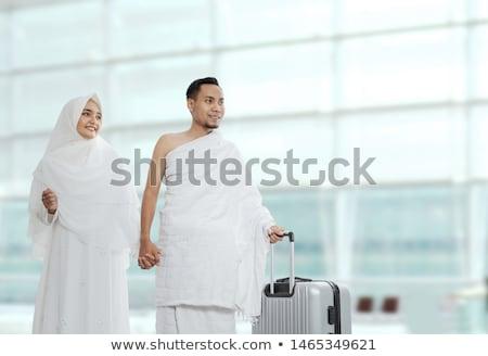 Indonésio muçulmano casal branco tradicional roupa Foto stock © tujuh17belas