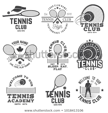 tennis club stamp stock photo © leonardo