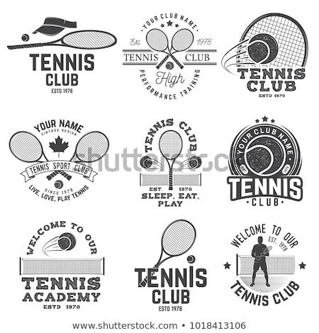 Tennis club tampon vecteur eps 10 Photo stock © leonardo