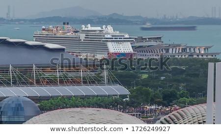 Feribot deniz gemi trafik turizm yolculuk Stok fotoğraf © tarczas