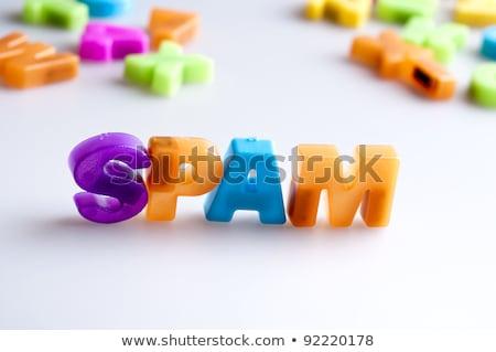 spam · kelime · fare · klavye · çocuklar · ahşap - stok fotoğraf © fuzzbones0