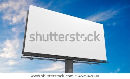 hatalmas · szabadtér · óriásplakát · hirdetés · fehér · űr - stock fotó © giko