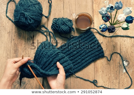 Handmade gift, special day, wintertime, knit, scarf Stock photo © xuanhuongho