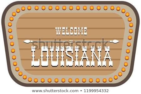 Stockfoto: Stand Welcome To Louisiana