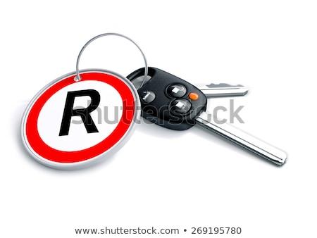 Araba anahtarları güney afrika para simge ayarlamak araba Stok fotoğraf © crashtackle