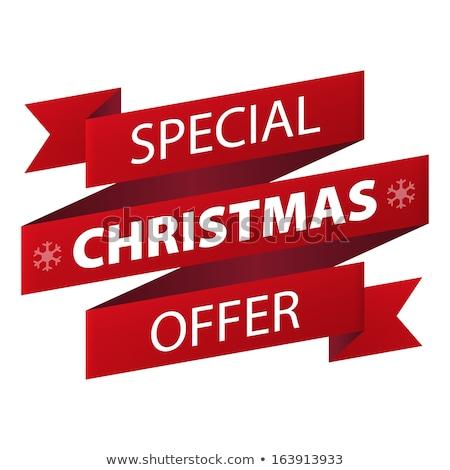 Navidad · ofrecer · niña · feliz · CAP · rojo - foto stock © marinini