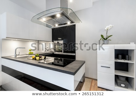 Hob vitroceramic stove kitchen modern Stock photo © lunamarina