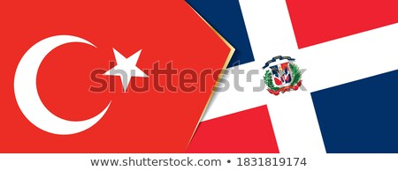 Turkey and Dominican Republic Flags Stock photo © Istanbul2009