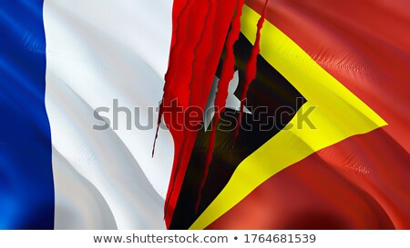 France and East Timor Flags Stock photo © Istanbul2009