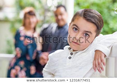 félvér · spanyol · kaukázusi · családi · portré · park · boldog - stock fotó © feverpitch