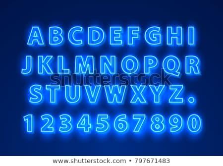 紫外線 ネオン 番号 木製 中古 ストックフォト © Voysla