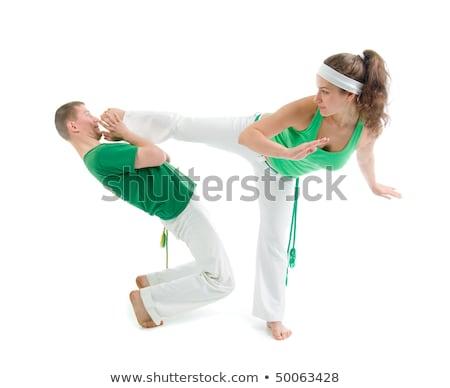 Kapcsolat sport capoeira képzés verekedés táncos Stock fotó © fanfo