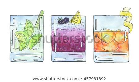rusty nail cocktail scetch stock photo © netkov1