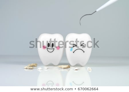 zahnärztliche · Klinik · zwei · Farbe · Symbole · Zahnarzt - stock foto © sahua