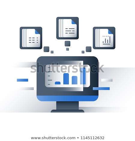большой · данные · изолированный · технологий · безопасности · цифровой - Сток-фото © wad