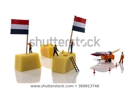 Weinig mensen vlaggen nederlands kaas Rood Stockfoto © compuinfoto