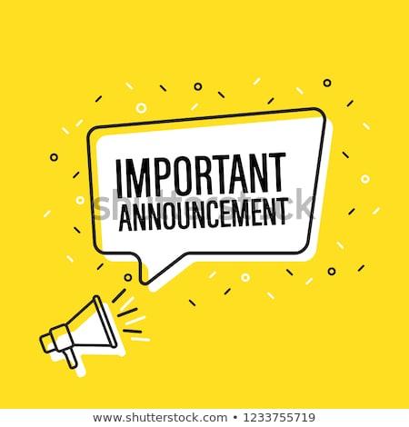 Aankondiging cartoon man megafoon nieuws kleur Stockfoto © tiKkraf69