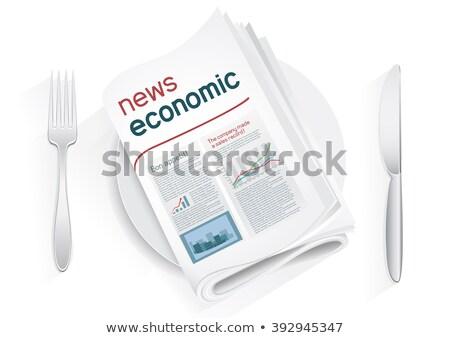 экономический Новости газета пластина белый политику Сток-фото © romvo