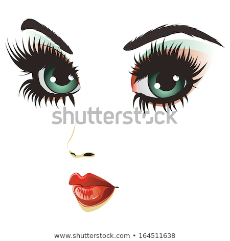 Gothic girl with artistic make-up  Stock photo © Elisanth