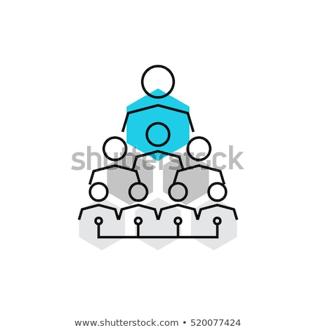 Staff hierarchy or organization structure scheme Stock photo © Winner