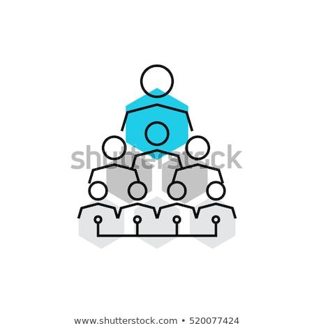 social · hierarquia · equipe · humanismo · comunidade · líder - foto stock © winner