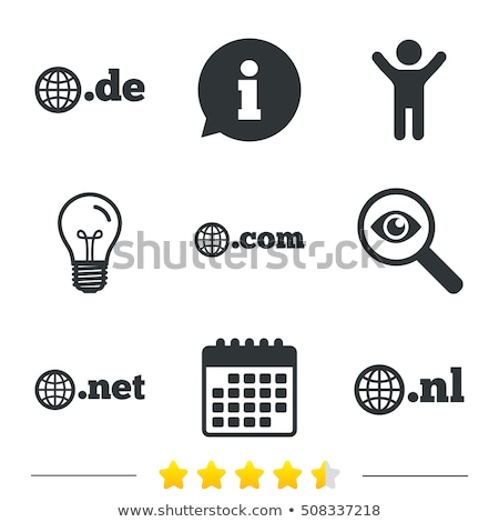 Duitsland domein teken icon illustratie Stockfoto © kiddaikiddee