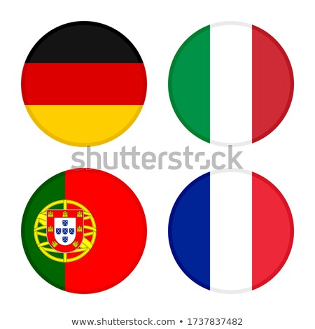 Foto stock: Germany Flag And Football