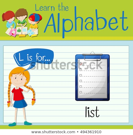 Flashcard letter L is for list Stock photo © bluering