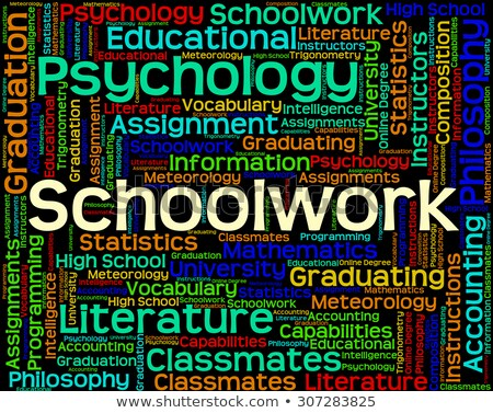 Schoolwork Word Indicates Undertaking Homework And Text Stock photo © stuartmiles
