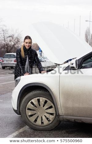 blond · meisje · zonnebril · rijden · auto · gelukkig - stockfoto © giulio_fornasar