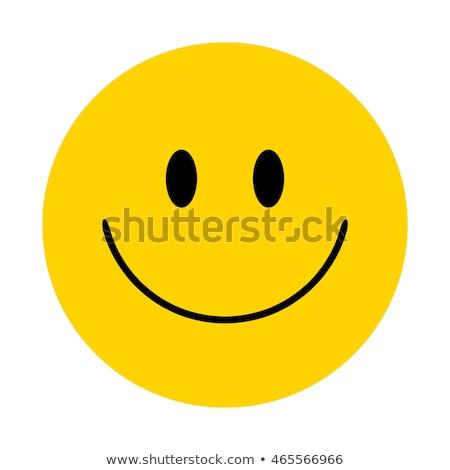 Happy Smiley Face Button Badge Vector Stock photo © doddis