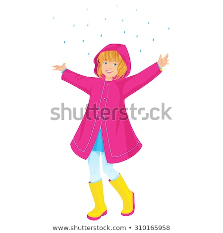 Girl in pink raincoat Stock photo © bluering