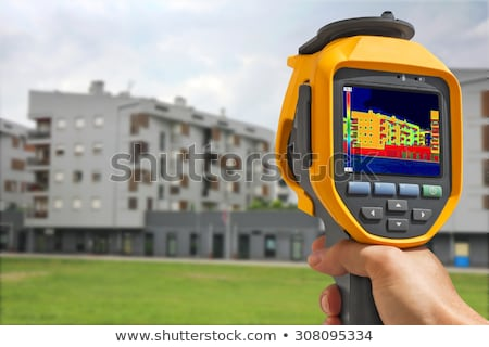 Thermal image on Residential building Stock photo © smuki