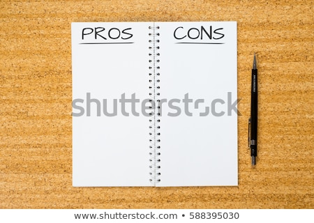 Pro and Cons text on notepad Stock photo © fuzzbones0